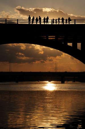 austin: Austin, Texas Sonnenuntergang