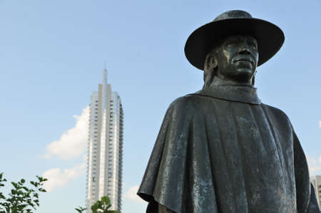 Stevie Ray Vaughan statue in Austin, TExas Stock Photo