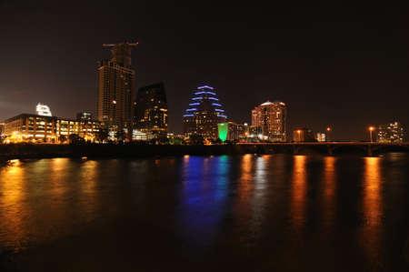 Austin, Texas night skyline photo