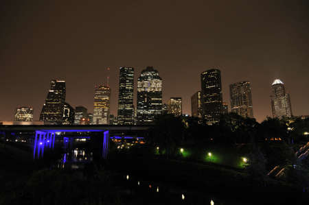 houston: City skyline at night, Houston, Texas