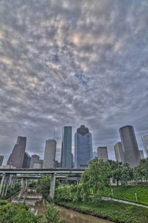 City skyline at dawn, Houston, Texas photo