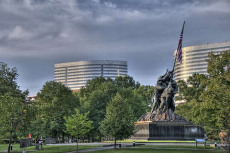 va: The Iwo Jima Memorial in Arlington, VA Editorial
