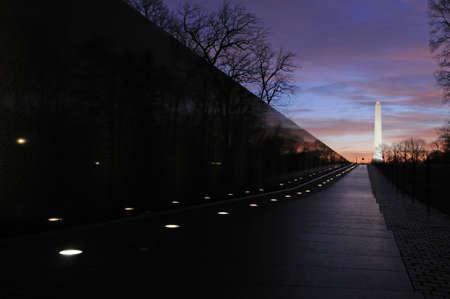 district of columbia: Washington Monument at sunrise, Washington DC Stock Photo