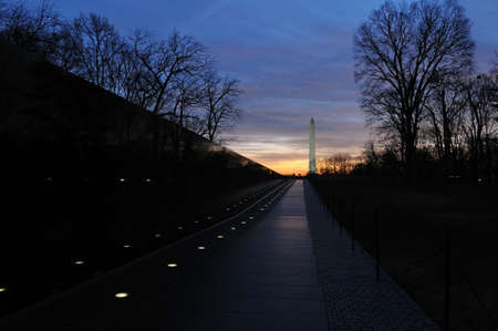 Washington Monument at sunrise, Washington DC photo