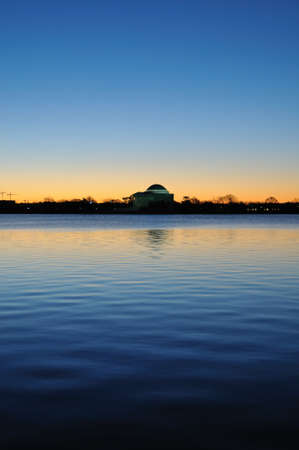 jefferson: The Jefferson Memorial at sunrise, Washington, DC Stock Photo