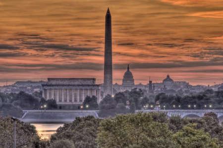 downtown capitol: Washington DC Skyline