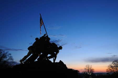 va: Iwo Jima Memorial at sunrise, Arlington, VA Editorial