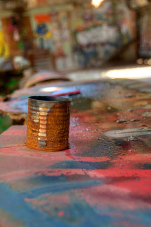 rusted: Rusted Can Stock Photo