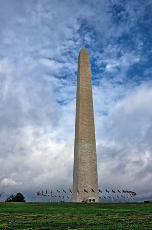 Washington Monument on the National Mall in Washington, DC Standard-Bild