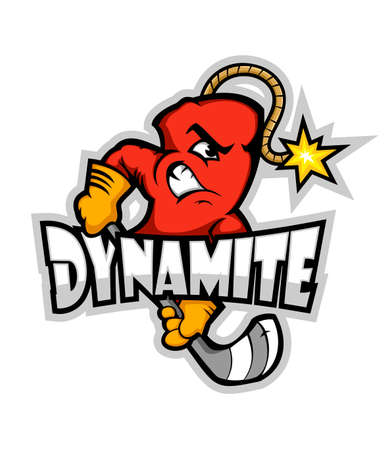 Logotipo de hockey. Icono de equipo deportivo