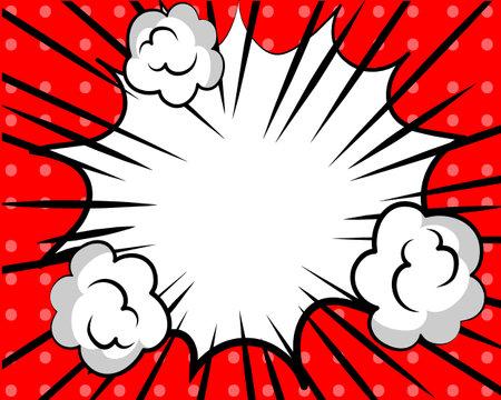 Cartoon burst comic background Vector illustration