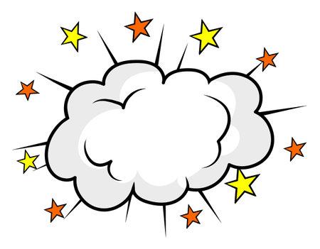 Cartoon cloud bang effects , Vector illustration