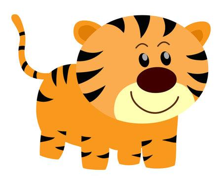 Tiger Clip art Wild animal cartoon isolated on white background