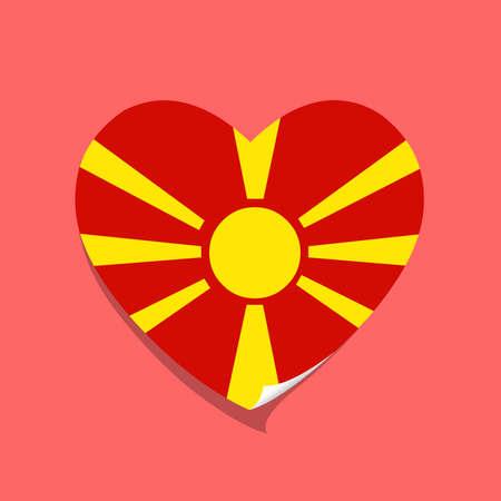 I love Macedonia flag heart vector illustration