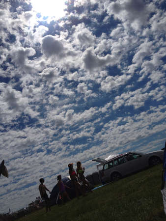 Just a cool pattern of clouds while waiting for Paradiso Festival