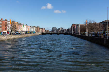 liffey: The river Liffey divides the city of Dublin in two parts, the Northside and the Southside