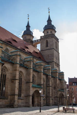 totaled: The Church of the Holy Spirit in German as referred by the City Church of the Holy Trinity is located in the Historic Area of the city of Bayreuth close to the pedestrian zone the church which rebuilt in 1614 in a late gothic style