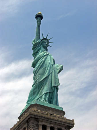 unites: Statue of Liberty on Liberty Island in New York Harbor in New York City a symbol of freedom and of the famous sites in the Unites States Stock Photo