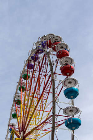 fairground: Ferris wheel on the fairground of the Spring Festival and the Octoberfest in Munich Stock Photo