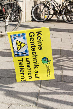 free vote: Demonstration at Odeonsplatz  Field Marshalls Hall in Munich on June, 4th in 2015 against TTIP, CETA and TISA Editorial