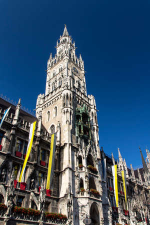 vital: Marienplatz also called Marys Square is one of the most vital places in Munich with the new city hall and numerous cafes and shops Editorial