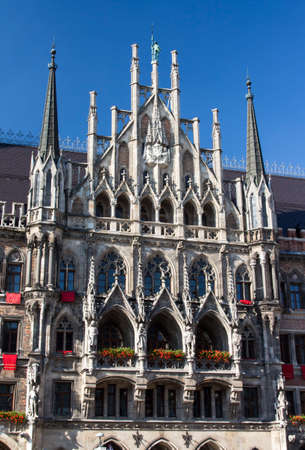 vital: Marienplatz also called Marys Square is one of the most vital places in Munich with the new city hall and numerous cafes and shops Stock Photo