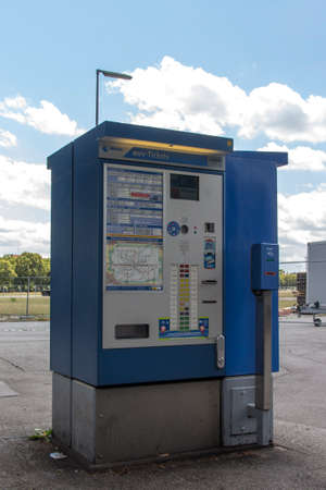 ticketing: Ticketing machine for public transport in Munich, the machine is operated by MVV the public transportation provider