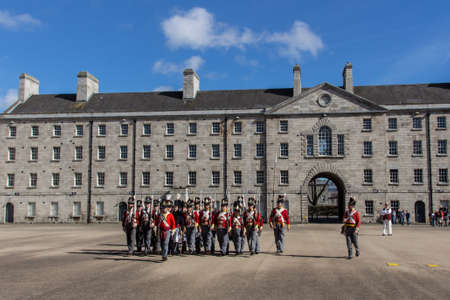 arbour: Practicing soldiers in the military barracks in the Arbour Hill area of Dublin, Ireland and now the National Museum of Ireland, Decorative Arts and History Editorial