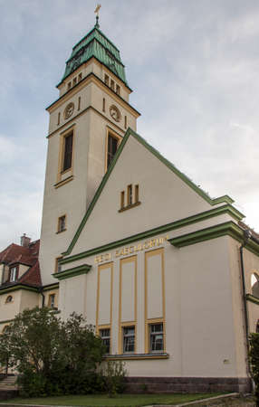 western part: The Church of St. Bonifatius was established in 1929 and is located in the western part of Werdau