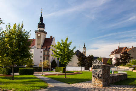 revitalization: The Massi Park in Werdau is a green area close to the town hall and is the result from the removal of old buildings with subsequent revitalization