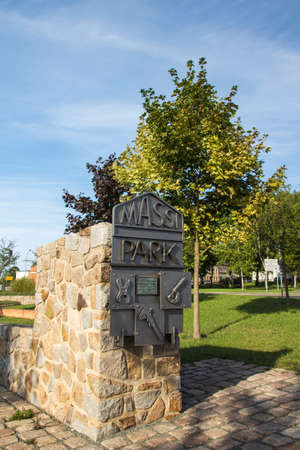 subsequent: The Massi Park in Werdau is a green area close to the town hall and is the result from the removal of old buildings with subsequent revitalization