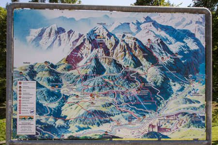 berchtesgaden: Map of the area around the Eagles Nest Eagles Nest