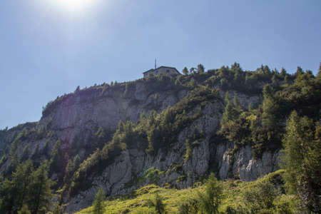 eagle nest rock: The Kehlsteinhaus also known as the Eagles Nest on top of the Kehlstein at 1.834m is the formerly  home and southern headquarters, the Eagles Nest is located close to Berchtesgaden