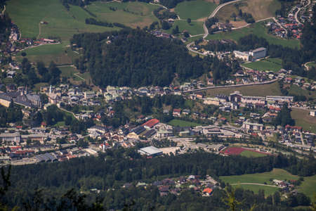 aerial photograph: Aerial photograph of the city of Berchtesgaden taken from the Kehlstein