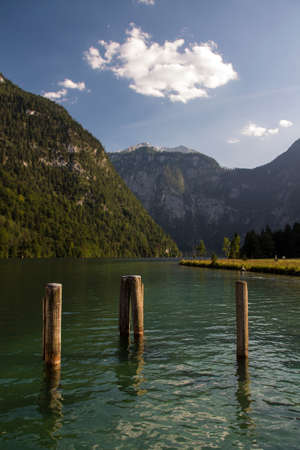 chock: View on the Koenigssee lake on a sunny day