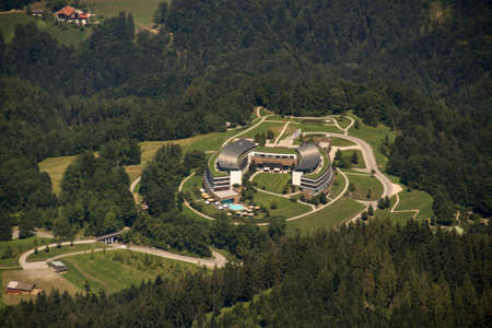aerial photograph: Aerial photograph of the Kempinski Hotel Berchtesgaden taken from the Kehlstein