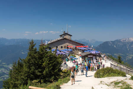 The Kehlsteinhaus also known as the Eagles Nest on top of the Kehlstein at 1.834m is the formerly Hitlers home and southern headquarters, the Eagles Nest is located close to Berchtesgaden Editorial