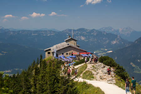 berchtesgaden: The Kehlsteinhaus also known as the Eagles Nest on top of the Kehlstein at 1.834m is the formerly Hitlers home and southern headquarters, the Eagles Nest is located close to Berchtesgaden Editorial
