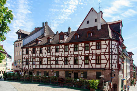 castle: Half-timbered house close to the Nuremberg Castle and the Tiergrtnertor