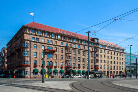 remarkable: The Le Meridien Grand Hotel is located at the station square in Nuremberg and has a remarkable facade