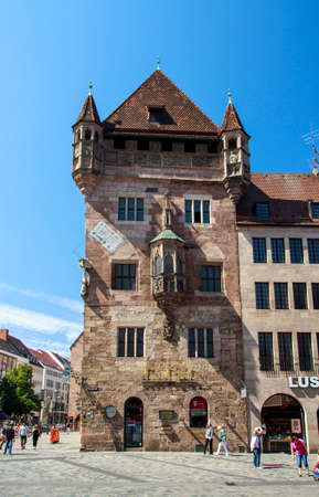 sponger: The Nassau House Nassau House with its medieval residential tower is located in the inner city of Nuremberg close to the St. Lawrence Church