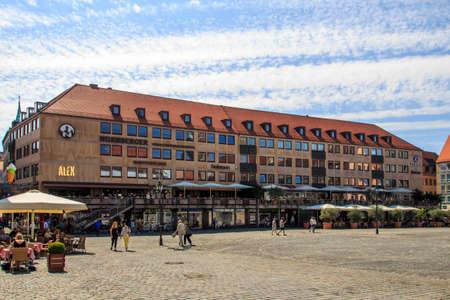 main market: Buildings surrounding the Nuremberg Main Market Main Market Square, the city center of Nuremberg