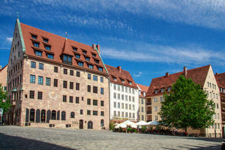 durer: Buildings at the Albrecht Duerer Sebalder square in Nuremberg