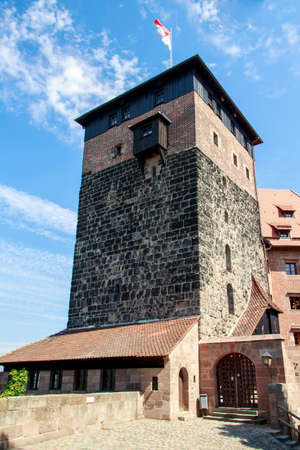 flagging: The Nuremberg Castle is one of the main sights of the city, the castle and its historical buildings are located on a sandstone rock in the north of Nuremberg