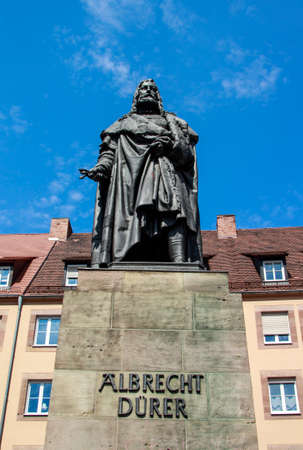 printmaker: Albrecht Duerer was a painter, printmaker and theorist of the German Renaissance and his statue is located in Nuremberg close to the St. Sebaldus Church