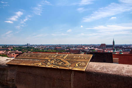 roof house: Cityscape of the old town of Nuremberg, the picture was shot from the Nuremberg Castle