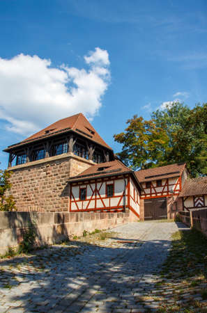 flagging: The administrative building of the Kreisjugendring, a organization supporting youth work, is located at the river Pegnitz