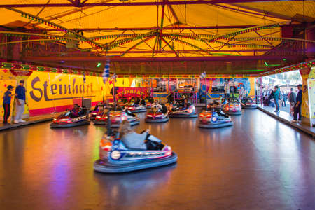 Bumper car rides during Oktoberfest attract many people and is always fun