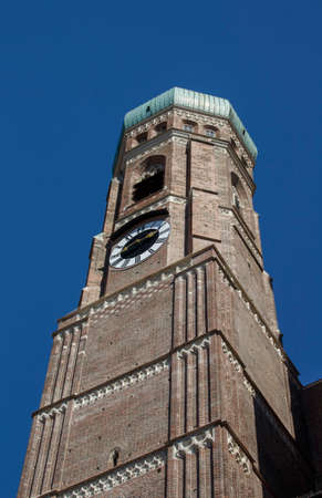 frauenkirche: Towers of the Frauenkirche (Cathedral of Our Dear Lady) in Munich, the church is located close to Marienplatz
