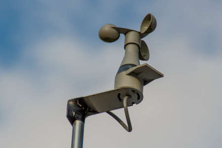 Simple wind gauge  anemometer on a roof in Roemhild (Germany)